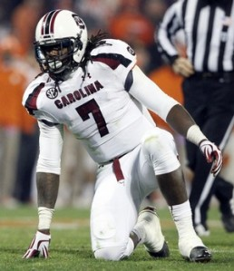 The prize of the 2014 NFL Draft? South Carolina DE Jadeveon Clowney.